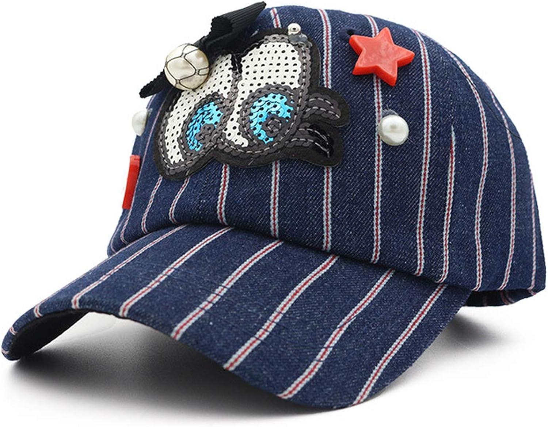 Summer Denim Striped Baseball Caps Women Casquette Gorras Cute Eye Cap Ladies Girls Sunhat Travel Sunshade Cap