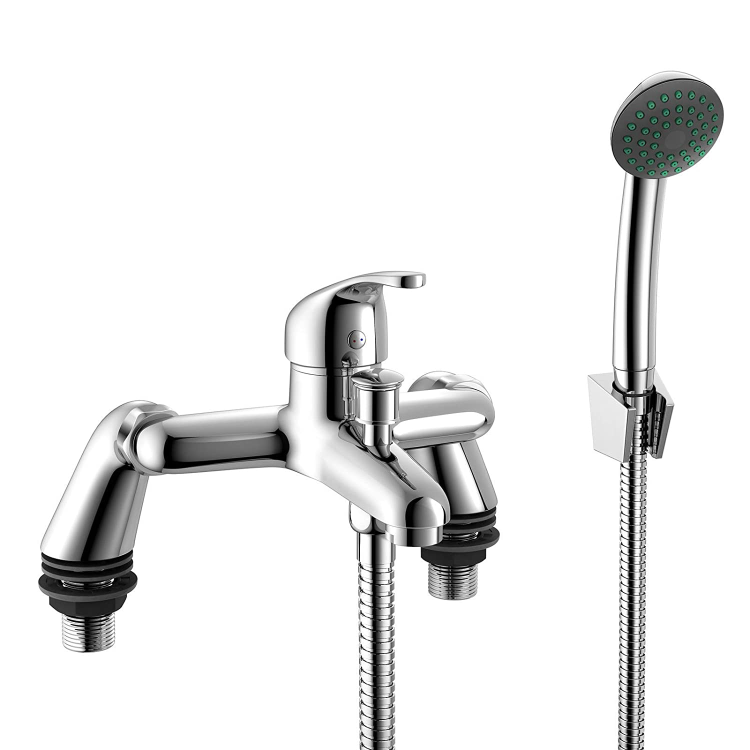 Shower Mixer Bath Filler Tap Set Bathroom Kit Sink Basin Set Tap ...