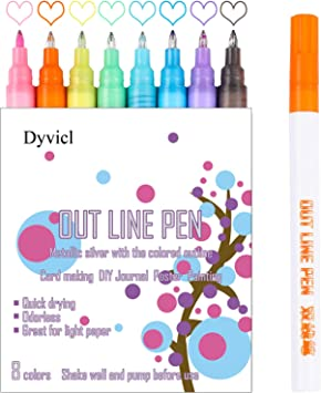 Metallic Markers – 0.7 mm Extra Fine Point