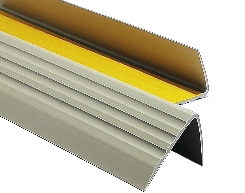 1,50m PVC Treppenkantenprofil Antirutsch-Profil Winkelprofil Selbstklebend Treppenkantenschutz 50x40mm