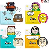 [SNP] The Sound of Your Heart Facial Mask Sheet 25ml 4 Type x 1 Sheet, Character Printed Mask, Safe Color Materials