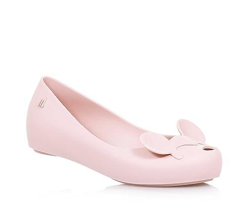 0240ffc8033 Melissa Kids Ultragirl Minnie Mouse Ears Plastic Flat Pink Blush-Pink-1  (Older