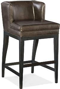 Hooker Furniture Jada Leather Bar Stool in Memento Medal