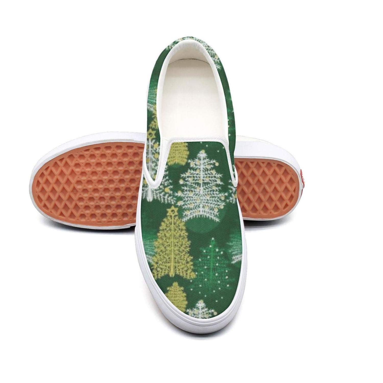 NI kingss Man Merry Christmas Trees Flat Fashion Casual Sneakers Shoes Cute Skate Shoe