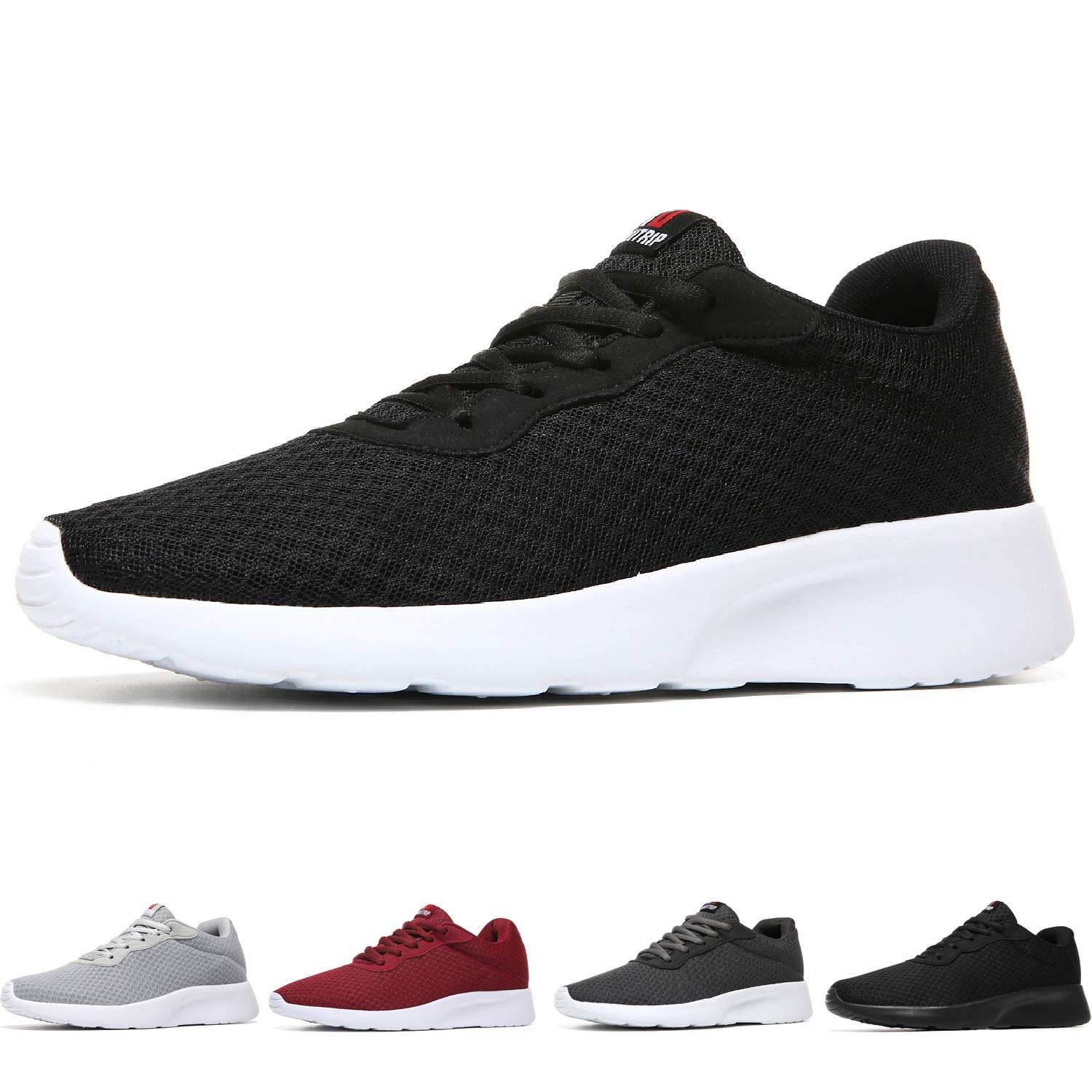 MAIITRIP Men's Running Shoes Sport Athletic Sneakers,Black White,Size 7