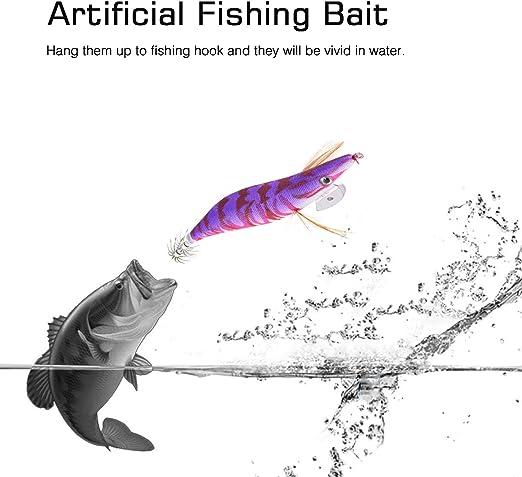 3.0# Squid Jigs Vivid Simulation Fishing Lure Artificial Baits Shrimp Lures