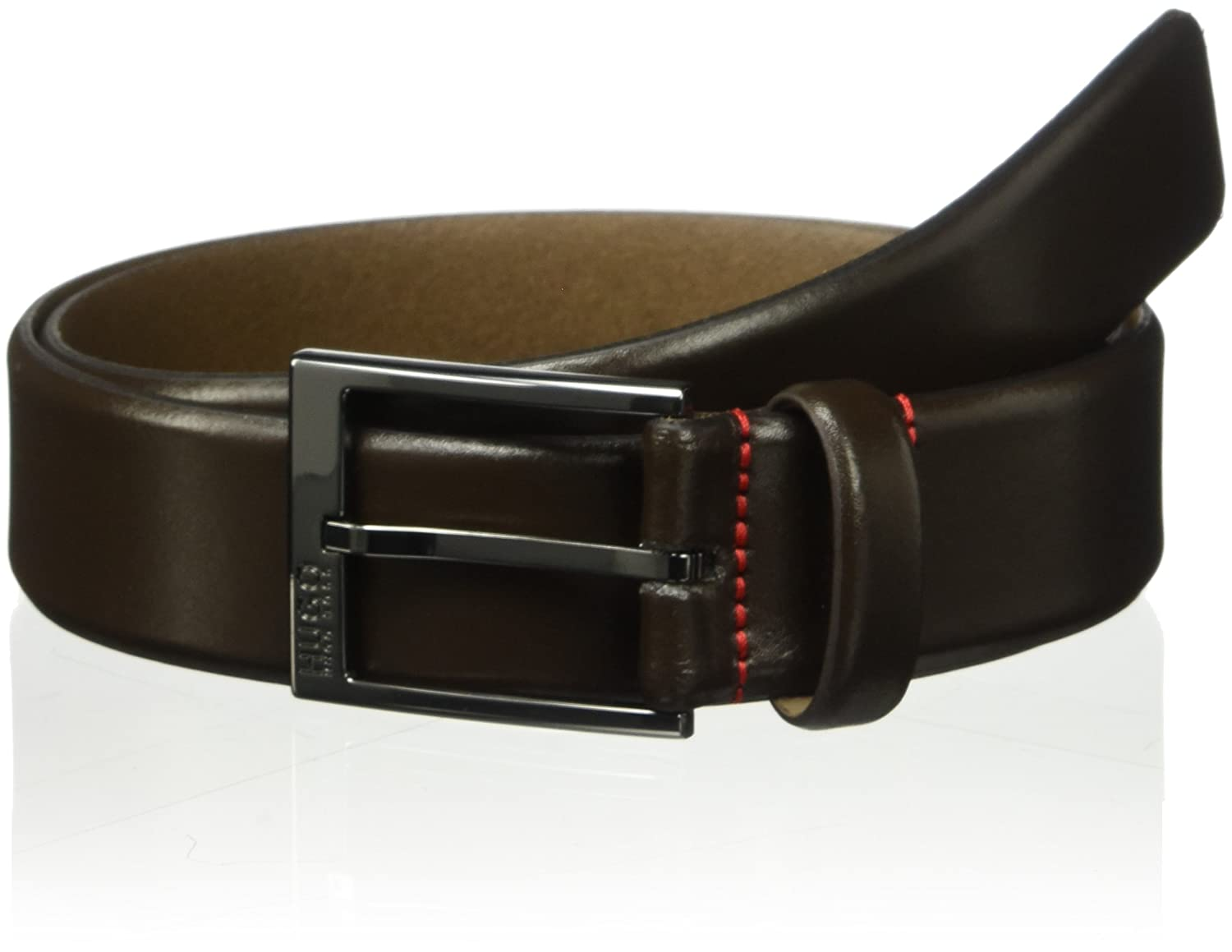 Hugo Boss Men's Garney Leather Belt Dark Brown 36 HUGO by Hugo Boss 50385731