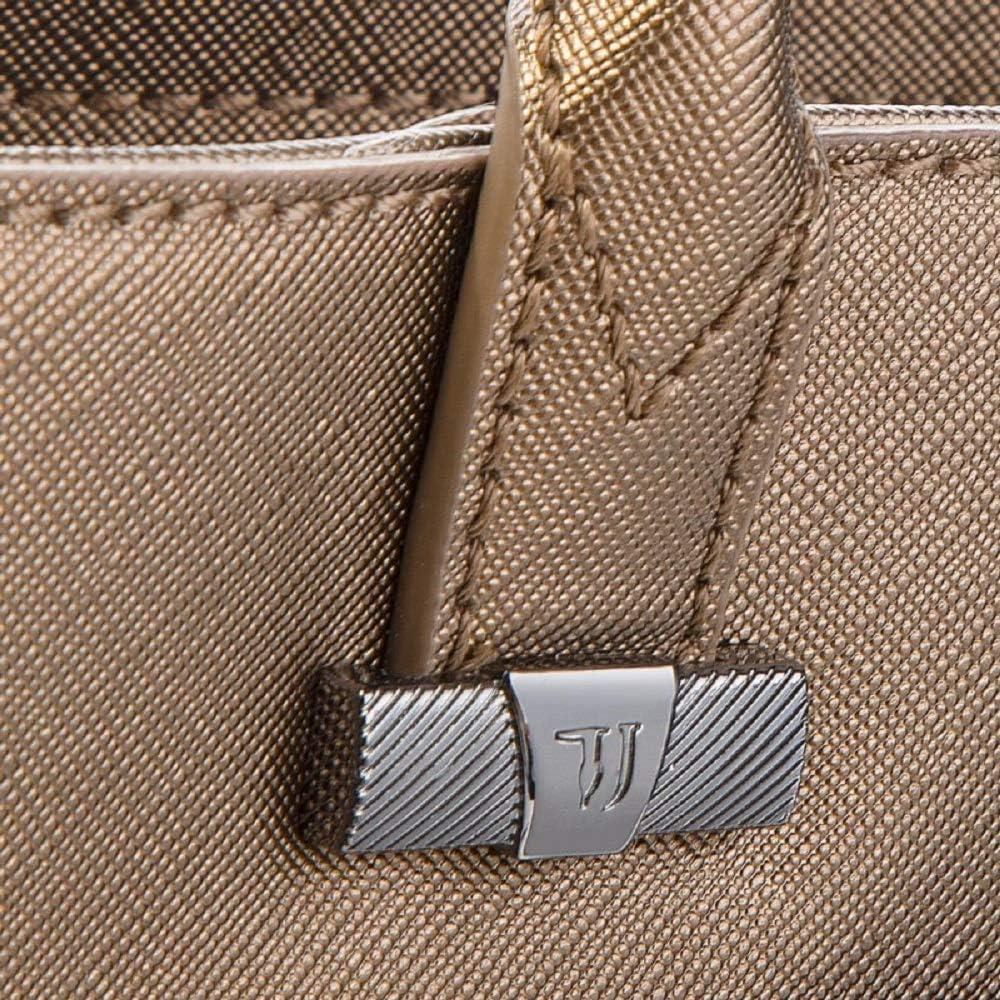 Trussardi Jeans Paprica Shopping Bag, Borsa a Spalla Donna, 34x30x13 cm (W x H x L) Bronzo-oro