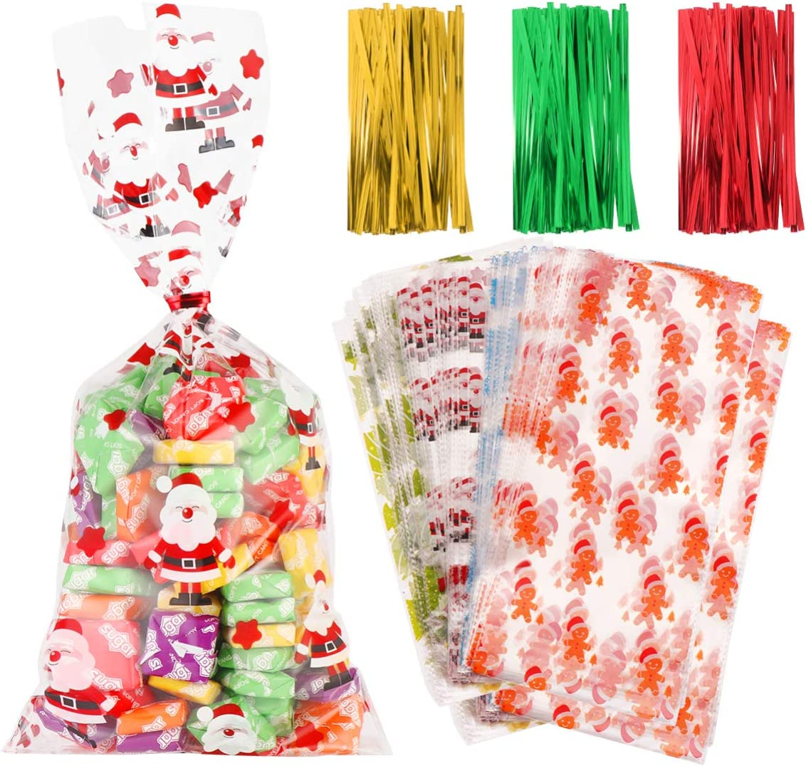Small Merry Penguins Christmas 7x3x2 Cello Cellophane Party Treat Food Snack Bags Free Shipping!