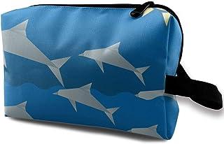 Cartoon Origami Dolphin Animal Small Travel Toiletry Bag Super Light Toiletry Organizer for Overnight Trip Bag