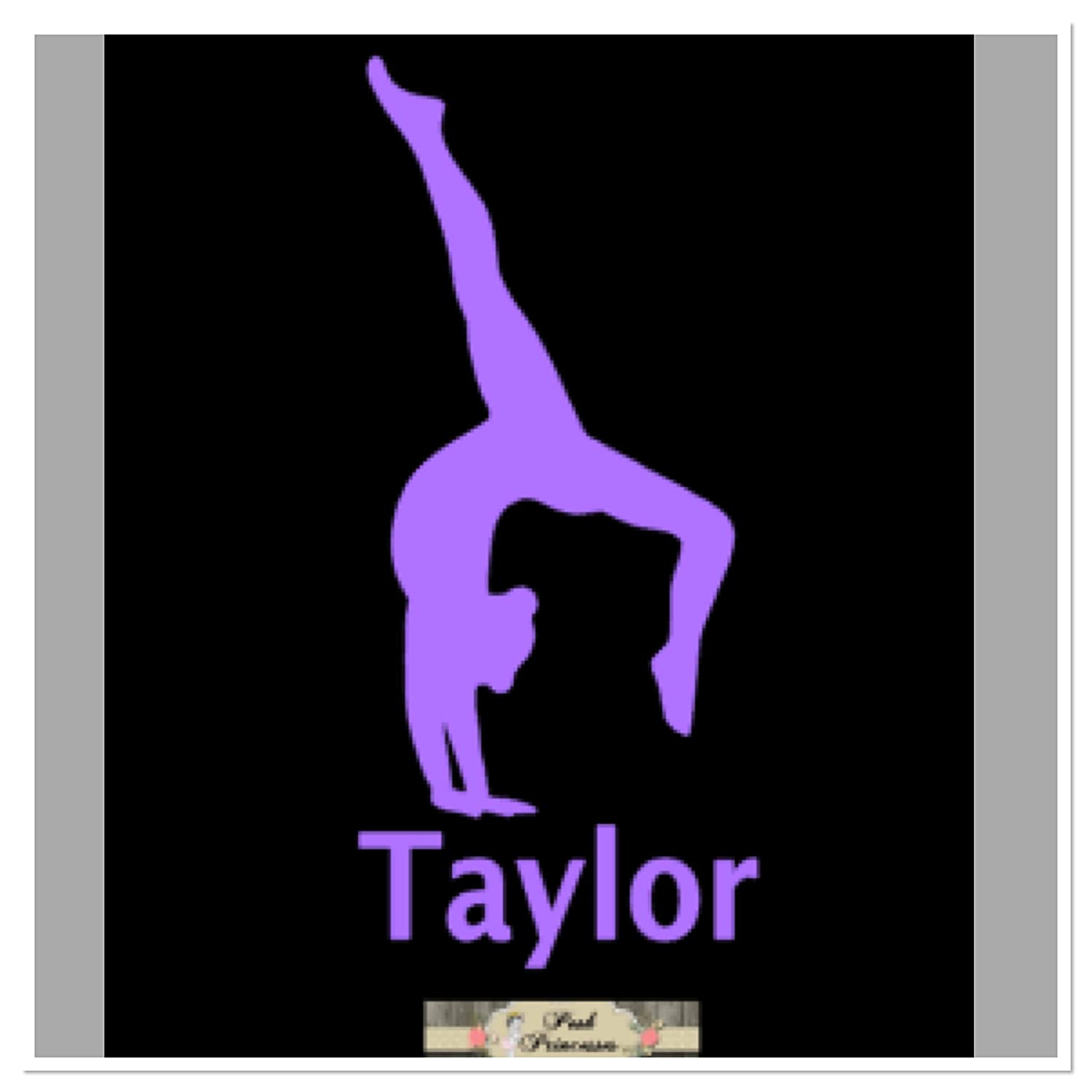 Gymnastic Decal Car Window Decal Laptop Sticker Backbend Walkover Handstand Decal ANY COLOR 4 x 2