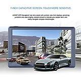 LESHP Navegador GPS para Coche Blutooth, 7'' sistema de navagación 8G RAM 128MB Microsoft Widows CE.NET 6.0 Actualización Gratuita de Mapa de Europa por toda la Vida