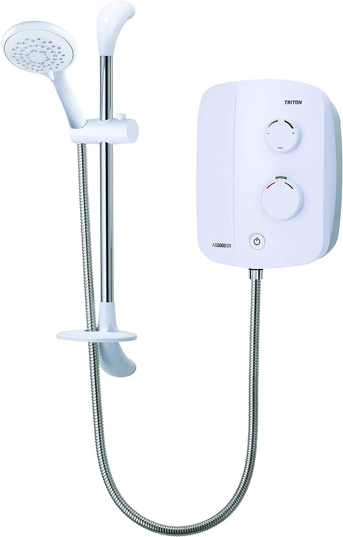Triton Showers Silent Running Power Shower, White, 215 mm