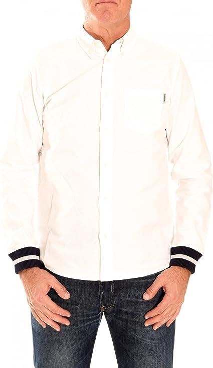 Carhartt Hombre camisas L/S Oxford Rib Camiseta blanco small: Amazon.es: Ropa y accesorios