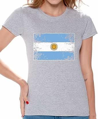 Awkward Styles Argentina Flag Shirts for Women Argentina T Shirt Argentina Gift