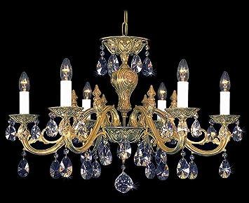 Kristall Kronleuchter Bohemia ~ Bohemia kristall kronleuchter royal gold amazon küche haushalt