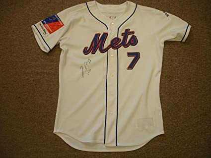 new styles 34811 54760 Autographed Jose Reyes Jersey - Game Worn 2004#7 ...