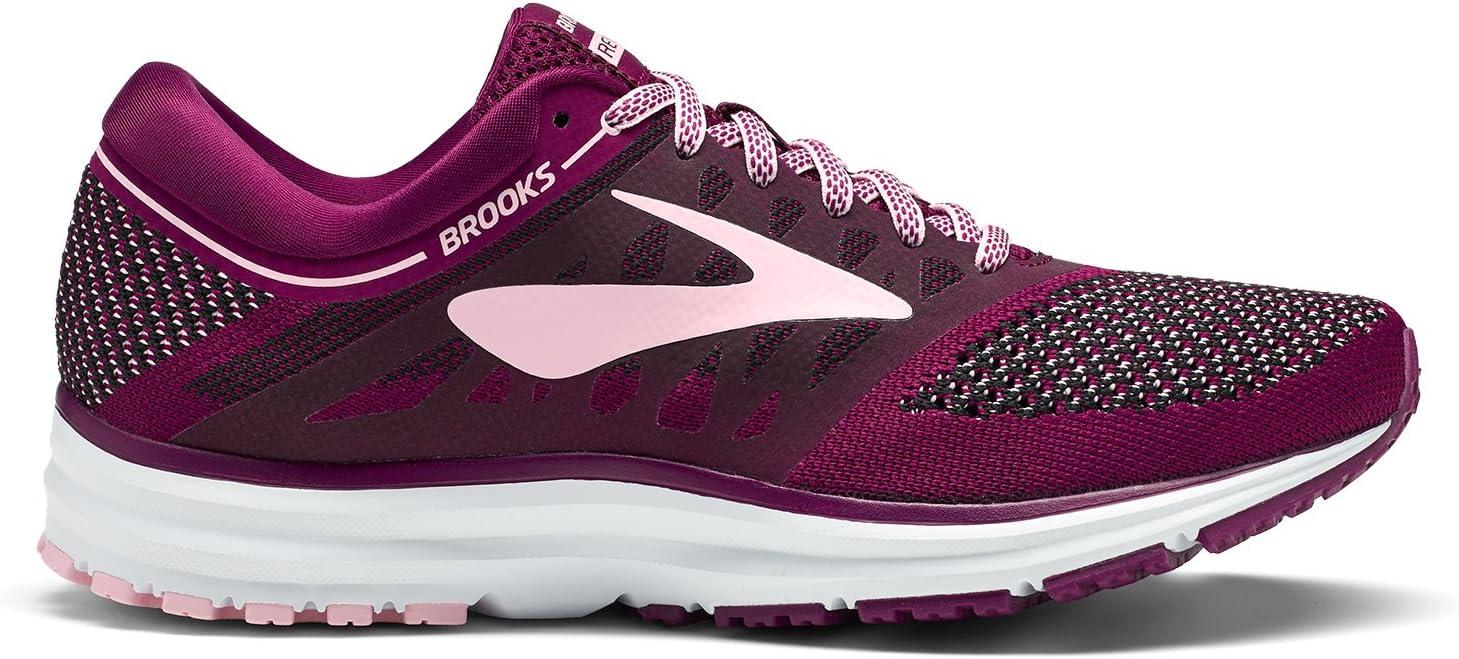 Brooks Revel, Zapatillas de Running para Mujer, Morado (Plum/Pink/Black 1b598), 37.5 EU: Amazon.es: Zapatos y complementos