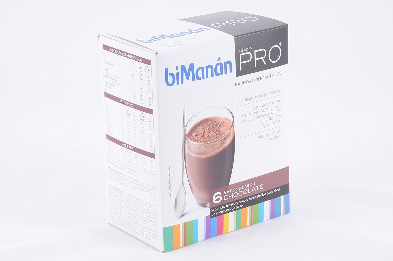 Bimanán Pro Batido Chocolate 6 Sobres: Amazon.es: Salud y cuidado personal