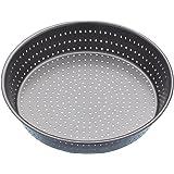 Master Class KCMCCB15 - Teglia rotonda da forno antiaderente per cucinare flan/quiche croccanti e morbide, colore: grigio, diametro: 23 cm