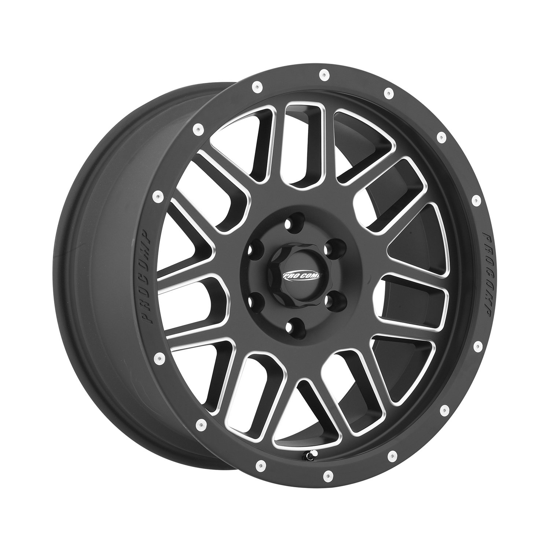 Pro Comp Alloys Series 40 Vertigo Satin Black Wheel with Milled Accents (18x9''/6x5.5'') by Pro Comp Alloys (Image #1)