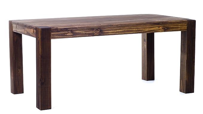 0b7146f4f60ff1 Brasilmöbel® Esstisch 160x90 Rio Kanto - Eiche antik Pinie Massivholz -  Größe   Farbe wählbar - Esszimmertisch Küchentisch Holztisch Echtholz -  vorgerichtet ...
