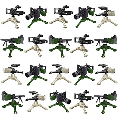 Lingxuinfo Military Army Weapons Set for Brick Figures, 20PCS Weapons Pack Compatible with All Major Brands: Toys & Games