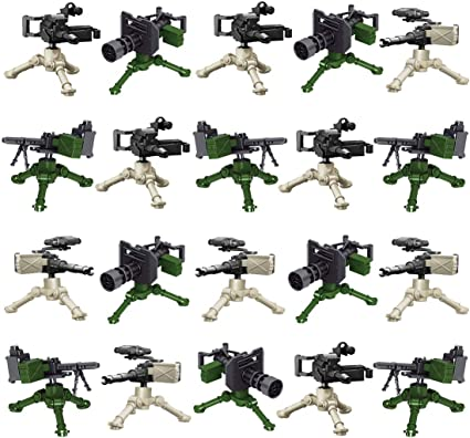 500 pcs Military Series Swat Police Gun Weapons Pack Army Brick Arms Weapon Pack
