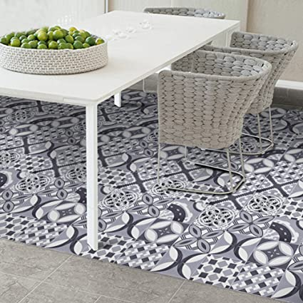 SHZONS Floor Peel Stick European Vinyl Tile For Home Kitchen Bathroom Hotel Decoration 787 X