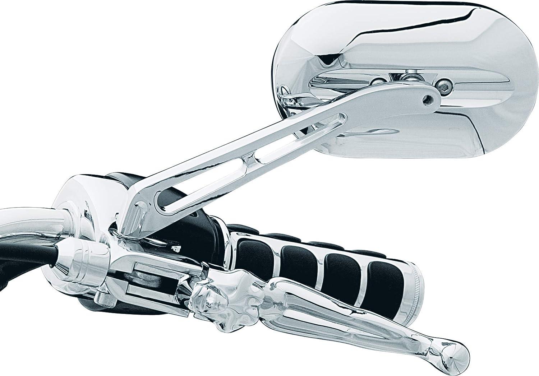 Kuryakyn 1412 Magnum Plus Large Head//Flat Glass//Long Stem Mirror