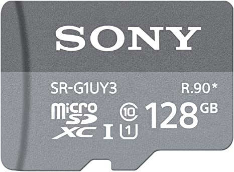 Sony SR-G1UY3A/GT High Speed 128GB Class 10 Micro SDXC UHS-I Memory Card up to 90MB/ s with Adapter