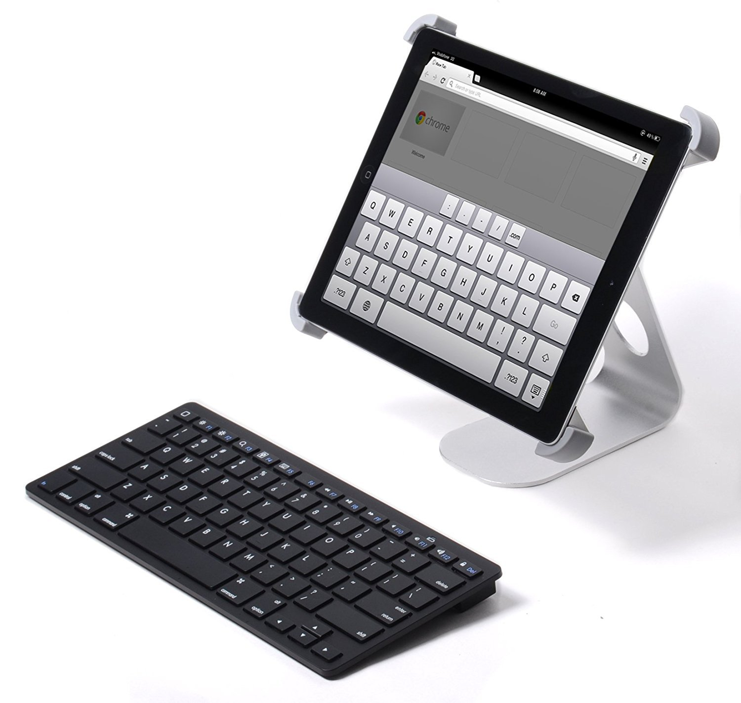 External Bluetooth Keyboard For Android Phone: Pwr External Slim Wireless Keyboard For Tablet Apple Android Fits Hd Hdx Ipad Iphone