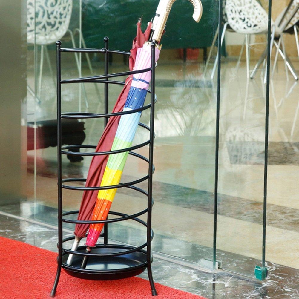 ZGLアンブレララック 傘バケツ家庭用傘ラックホテルロビー傘収納棚ストアオフィス傘スタンド (色 : ブラック) B07D2F4ZRJ ブラック ブラック