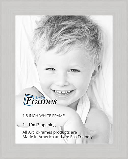 Amazon.com - ArtToFrames 10x13 inch Off White Wash Barnwood Frame ...