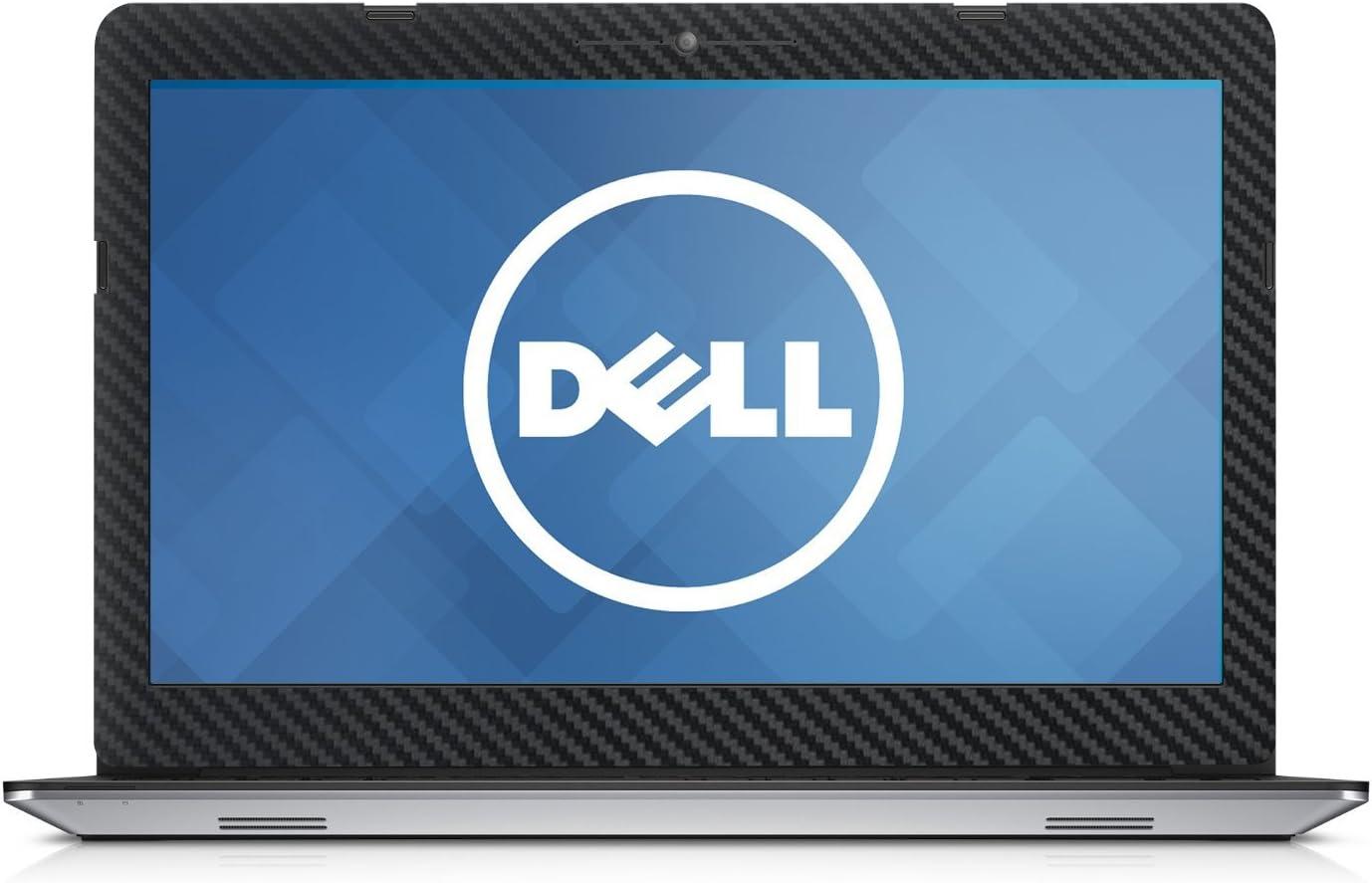 "Black Carbon Fiber skin decal wrap skin Case for Dell Inspiron 15 5555 5558 5559 15.6"" Laptop"