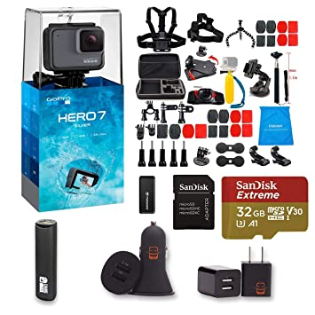 Amazon.com: GoPro Hero 7 - Cámara de acción de plata + kit ...