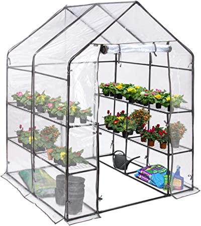 PVC Walk-In Greenhouse Tomato Vegetable Growing Home Easy Assemble Grow Home
