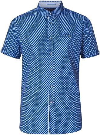 D555 - Camisa de manga corta para hombre con botones ocultos y bolsillo 2XL - 5XL: Amazon.es: Ropa y accesorios