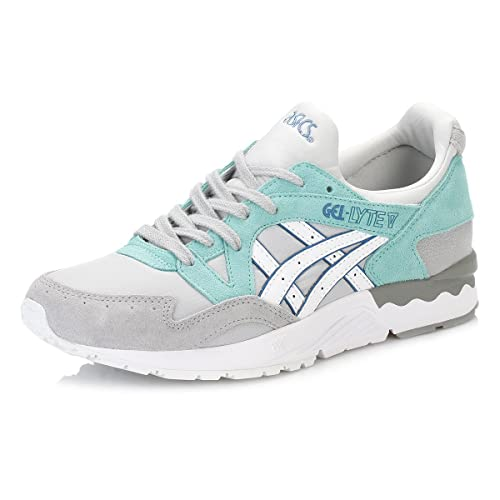 Asics Mujer Light Gris/Blanco Gel-Lyte V Zapatillas-UK 3.5: Amazon.es: Zapatos y complementos