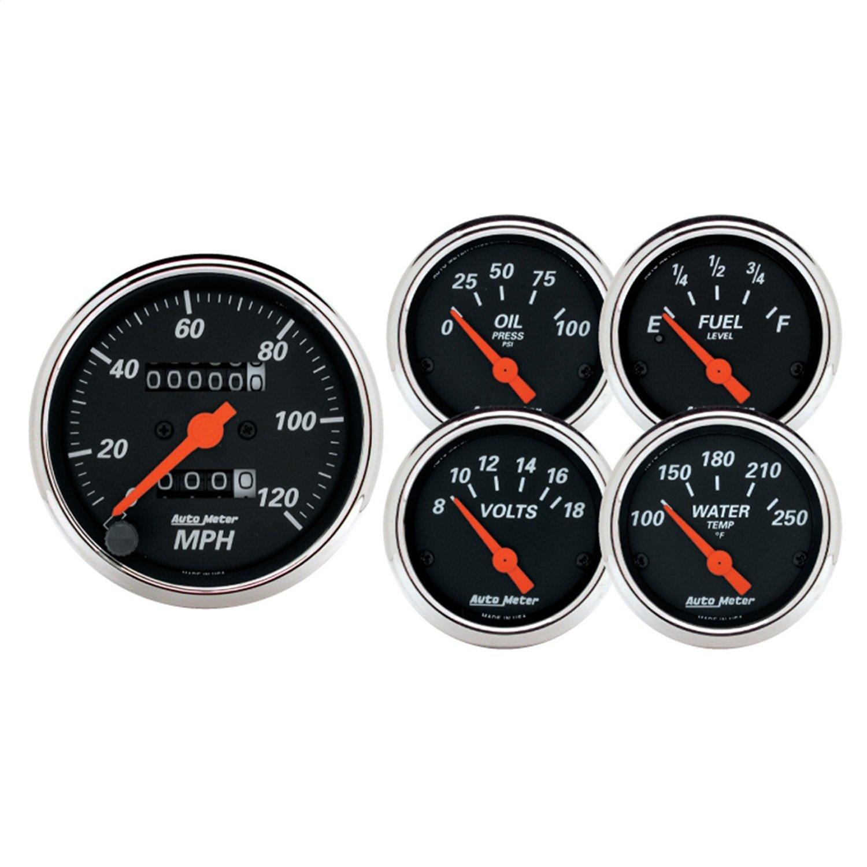 Auto Meter 1420 Designer Black Street Rod Kit