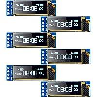 MakerFocus 6pcs I2C OLED Display Module 0.91 Inch I2C SSD1306 OLED Display Module Blue I2C OLED Screen Driver DC 3.3V~5V…