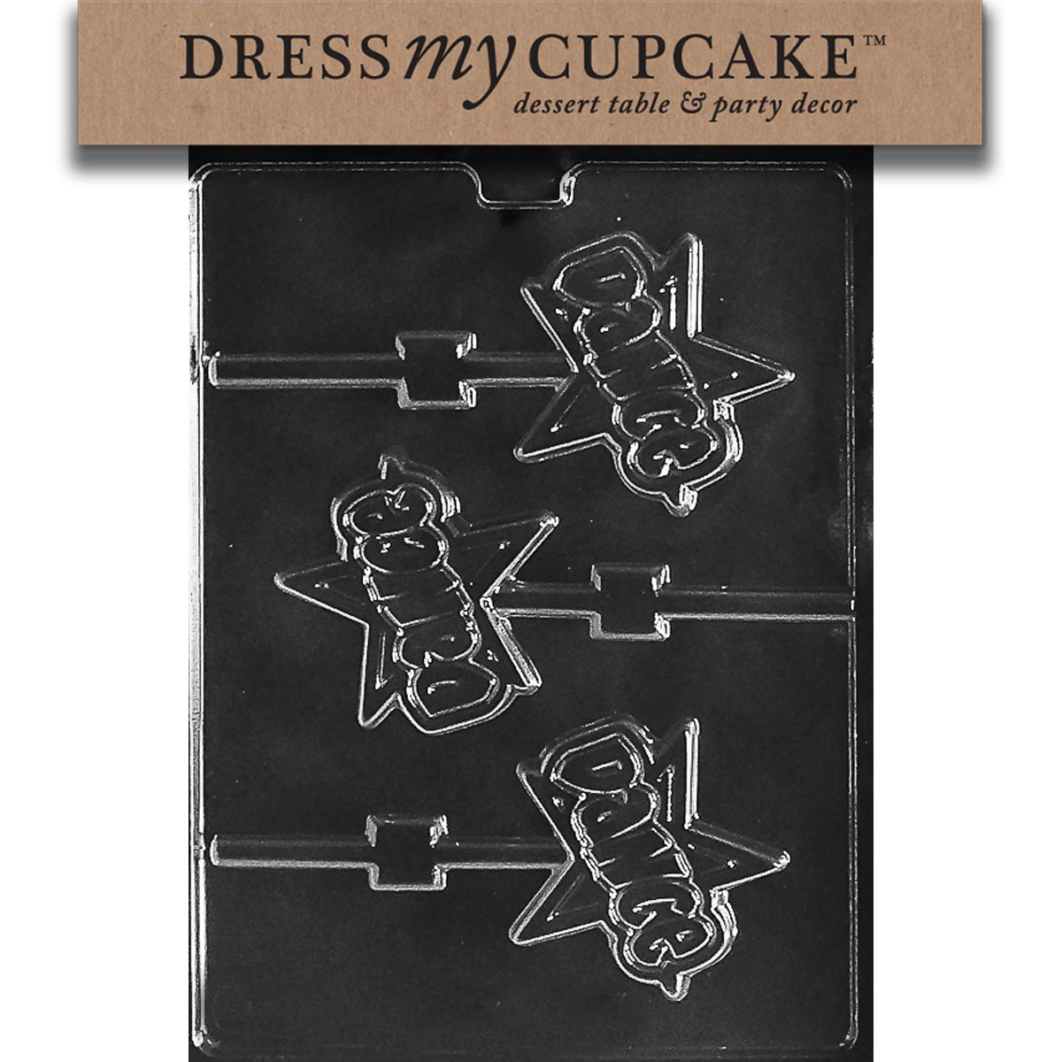 Dress My Cupcake DMCK161SET Chocolate Candy Mold, Dance Lollipop, Set of 6