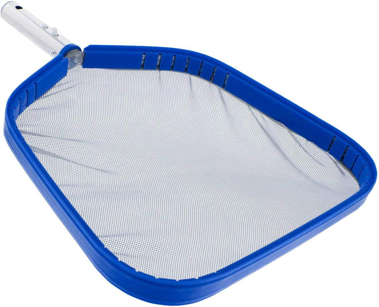 """POOLWHALE Professional Heavy Duty 15"""" Swimming Pool Leaf Skimmer Net with Strong Reinforced Aluminum Frame Handle - Commercial Grade - Fast Cleaning, Easy Debris Pickup & Removal"""