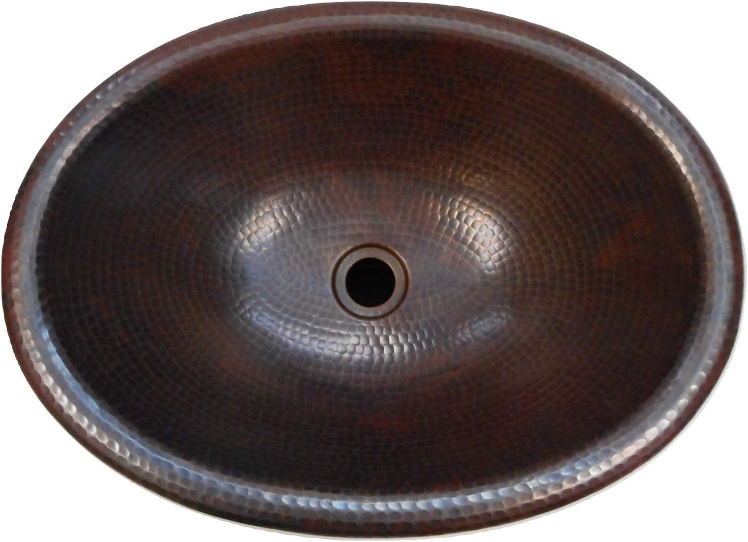 19 x 14 Oval Copper Bath Sink Self Rimming Drop-In or Vessel Sink by SimplyCopper