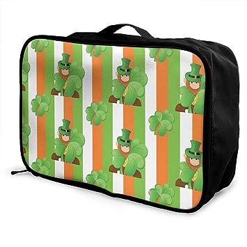 be1aaa104e5b Amazon.com | St. Patrick's Day Irish Shamrock Pattern Travel ...