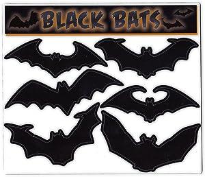 "Crazy Sticker Guy Magnet Variety Pack (6 Magnets) - Black Bats (Halloween) - Refrigerators, Cars, Mailboxes, Decoration - 3"" Wide (Each Bat)"