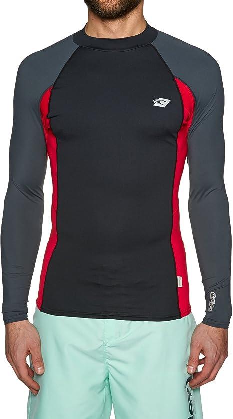ONeill Premium Skins Camiseta de Manga Larga de Dry rápido, Ligero y con Tops Grafito Rojo y Negro - UPF 50+ protección UV - 6OZ Nylon: Amazon.es: Deportes y aire libre