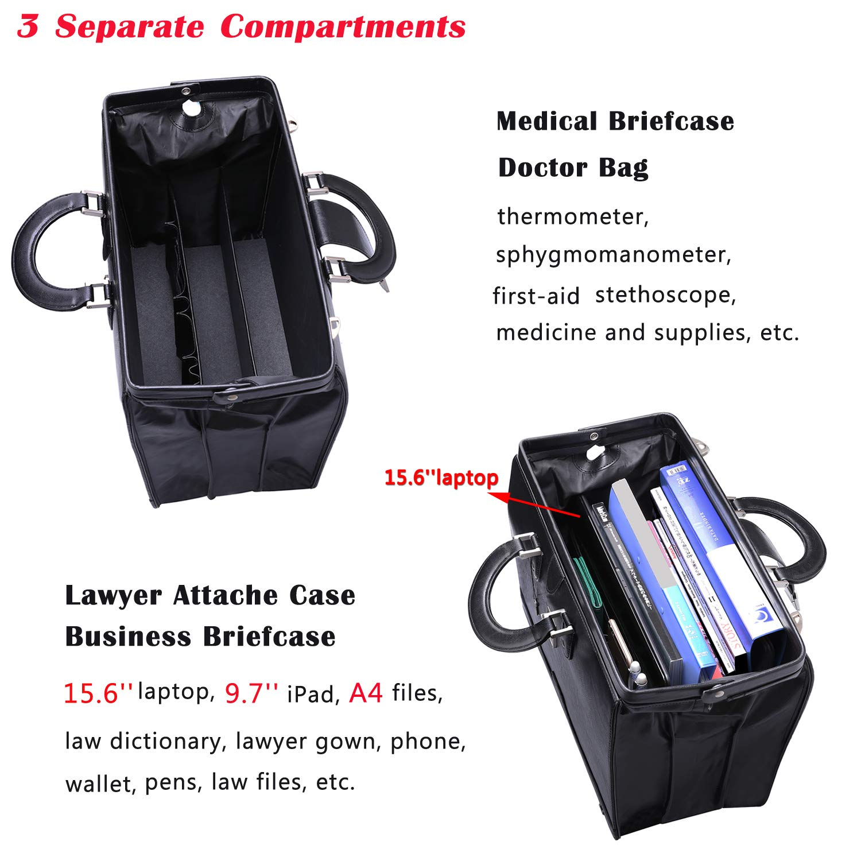 Ronts Lawyers PU Leather Briefcase 15.6 Inch Vintage Laptop Bag Shoulder Bag Attach Case for Men Women,Brown XUSYXBM019-BN