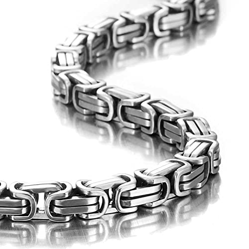 2e71e12dc19 Urban Jewelry Impressive Mechanic Style Men s Necklace Stainless Steel  Silver Chain