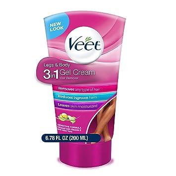 Amazon Com Veet Legs Body 3 In 1 Gel Cream 6 78 Oz Pack Of 1